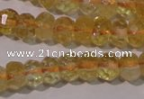CCR225 15.5 inches 4*6mm faceted rondelle natural citrine beads