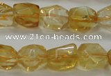 CCR236 15.5 inches 9*12mm nuggets natural citrine gemstone beads