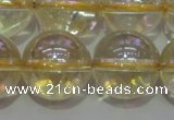 CCR304 15.5 inches 12mm round AB-color natural citrine beads