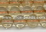 CCR346 15.5 inches 8mm round natural citrine beads wholesale