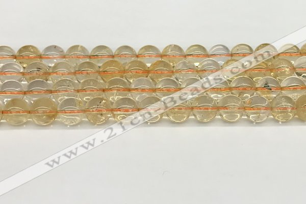 CCR347 15.5 inches 10mm round natural citrine beads wholesale