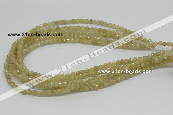 CCR82 15.5 inches 6mm faceted round citrine gemstone beads wholesale