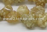 CCR86 15.5 inches 14mm chip citrine gemstone beads wholesale