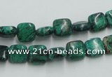 CCS220 15.5 inches 8*8mm square natural Chinese chrysocolla beads