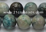 CCS23 15.5 inches 20mm round natural chrysocolla gemstone beads