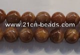 CCS363 15.5 inches 10mm round A grade natural golden sunstone beads
