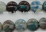 CCS39 15.5 inches 14mm flat round natural chrysocolla gemstone beads