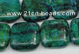CCS467 15.5 inches 20*20mm square dyed chrysocolla gemstone beads