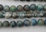 CCS502 15.5 inches 8mm round natural chrysocolla gemstone beads