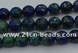 CCS531 15.5 inches 6mm faceted round dyed chrysocolla beads