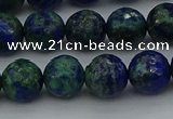 CCS534 15.5 inches 12mm faceted round dyed chrysocolla beads