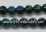 CCS57 16 inches 10*10mm pumpkin dyed chrysocolla gemstone beads