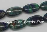 CCS60 16 inches 10*20mm oval dyed chrysocolla gemstone beads