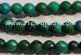 CCS602 15.5 inches 8mm faceted round dyed chrysocolla gemstone beads