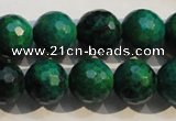 CCS605 15.5 inches 14mm faceted round dyed chrysocolla gemstone beads