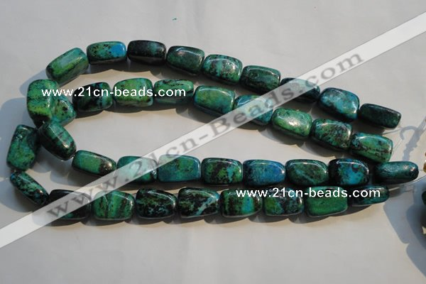 CCS648 15.5 inches 14*20mm nuggets dyed chrysocolla gemstone beads