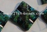 CCS688 15.5 inches 30*30mm wavy diamond dyed chrysocolla beads