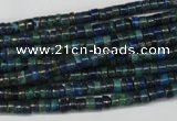 CCS75 15.5 inches 2*4mm heishi dyed chrysocolla gemstone beads