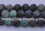 CCS761 15.5 inches 6mm round matte natural chrysocolla beads