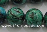 CCS806 15.5 inches 16mm round natural Chinese chrysocolla beads