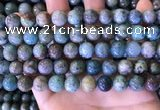 CCS890 15 inches 10mm round natural chrysocolla beads wholesale