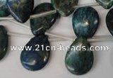 CCS92 Top-drilled 15*20mm flat teardrop dyed chrysocolla gemstone beads