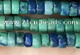 CCS93 15.5 inches 2.5*4mm round heishi chrysocolla beads