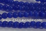 CCT1121 15 inches 2mm round tiny cats eye beads wholesale