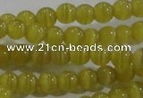 CCT1151 15 inches 3mm round tiny cats eye beads wholesale