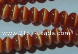 CCT245 15 inches 3*6mm rondelle cats eye beads wholesale