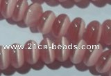 CCT274 15 inches 5*8mm rondelle cats eye beads wholesale