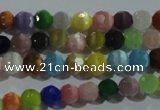 CCT318 15 inches 4mm faceted round cats eye beads wholesale