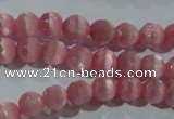 CCT343 15 inches 5mm faceted round cats eye beads wholesale