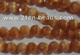 CCT344 15 inches 5mm faceted round cats eye beads wholesale