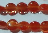 CCT454 15 inches 6mm flat round cats eye beads wholesale