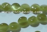 CCT459 15 inches 6mm flat round cats eye beads wholesale