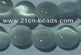 CCT482 15 inches 8mm flat round cats eye beads wholesale
