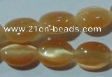 CCT636 15 inches 6*8mm oval cats eye beads wholesale
