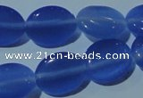 CCT678 15 inches 8*10mm oval cats eye beads wholesale