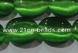 CCT705 15 inches 10*12mm oval cats eye beads wholesale