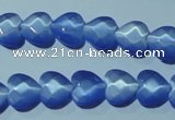 CCT964 15 inches 10*10mm faceted heart cats eye beads wholesale