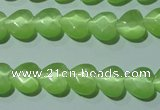 CCT965 15 inches 10*10mm faceted heart cats eye beads wholesale