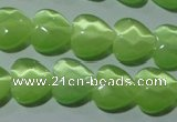 CCT972 15 inches 12*12mm faceted heart cats eye beads wholesale