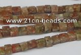 CCU05 15.5 inches 4*4mm cube New unakite beads wholesale