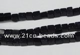 CCU07 15.5 inches 4*4mm cube blue goldstone beads wholesale