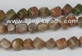 CCU103 15.5 inches 6*6mm cube New unakite beads wholesale