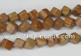 CCU110 15.5 inches 6*6mm cube grain stone beads wholesale