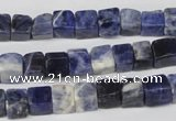 CCU43 15.5 inches 6*6mm cube sodalite gemstone beads wholesale