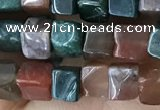 CCU459 15.5 inches 4*4mm cube Indian agate beads wholesale
