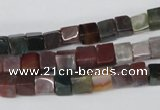 CCU46 15.5 inches 6*6mm cube Indian agate beads wholesale